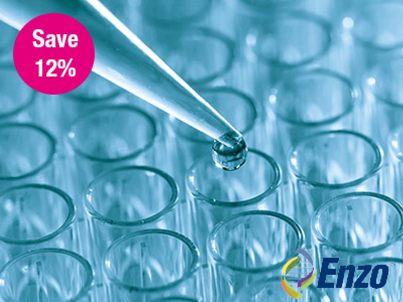Save 12% on all Enzo one plate ELISA kits